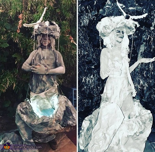 Water Fountain Statues Homemade Costume