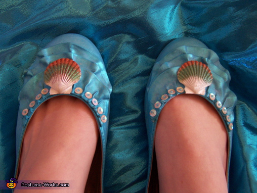 Water wave shoes, Mermaid Costume