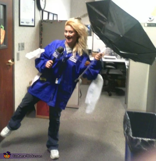 Weather Channel Reporter in a Storm Costume