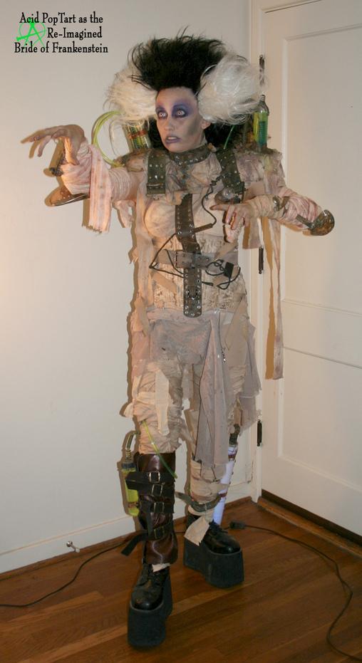 Full length Bride of Frankenstein, Bride of Frankenstein Costume