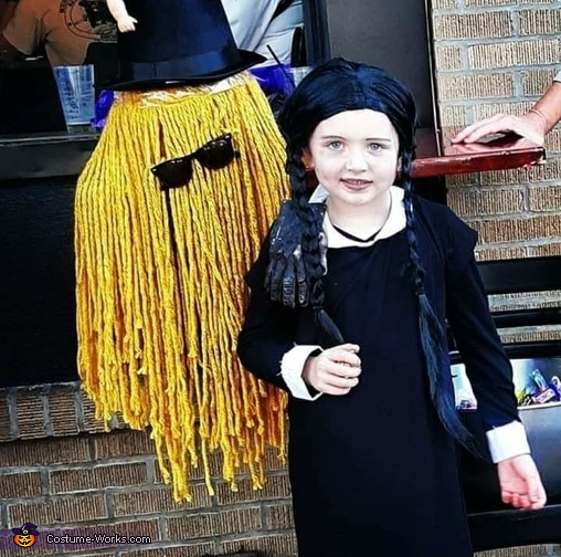 Wednesday and Cousin It, Wednesday Addams Costume