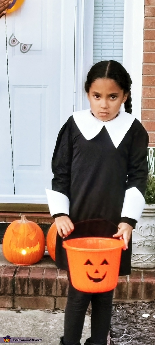 Can't believe you are taking my picture lady!!!, TRULY Wednesday Addams Costume