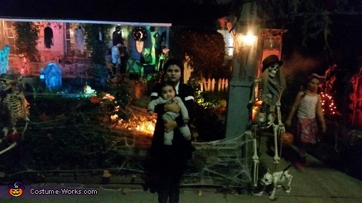 Wednesday Addams and Pubert Addams Homemade Costume
