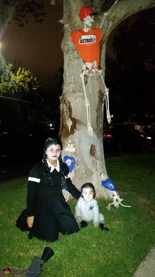 Wednesday Addams and Pubert Addams Homemade Costume