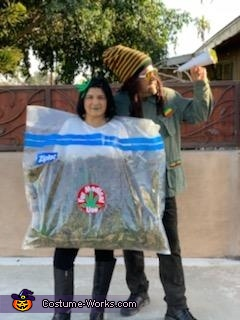 Weed Bag Homemade Costume