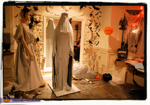 Angel dress is almost finished, Weeping Angel Girl Costume