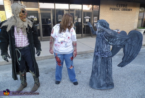 Scaring innocent bystanders. , Dr. Who Weeping Angel Costume