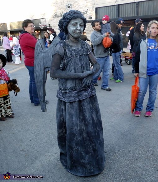 Playing the part., Dr. Who Weeping Angel Costume