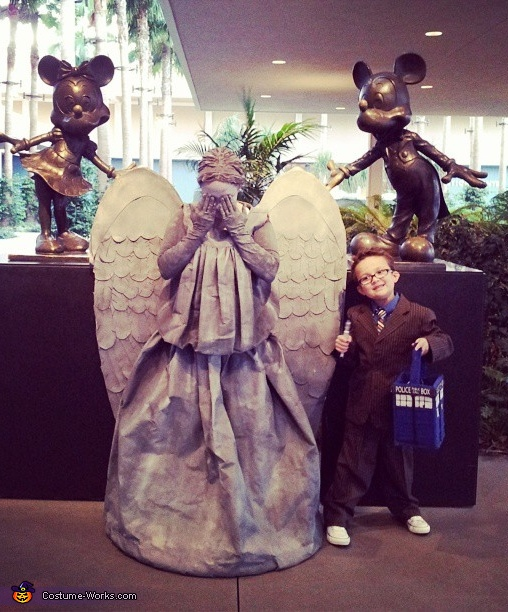 Weeping Angel and the 10th Doctor Costume