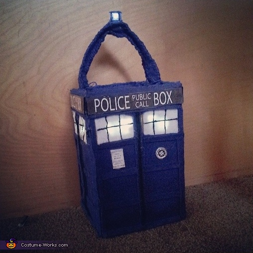 Tardis Halloween Candy Bag., Weeping Angel and the 10th Doctor Costume