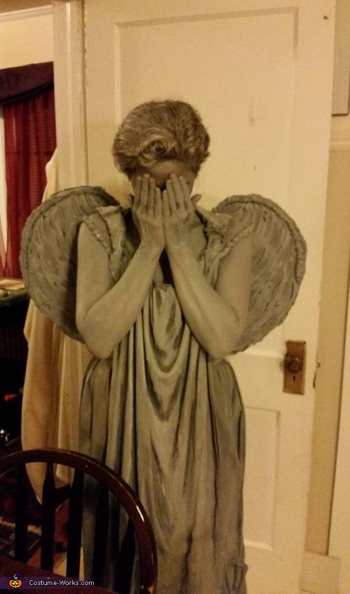 Weeping Angel Statue Homemade Costume