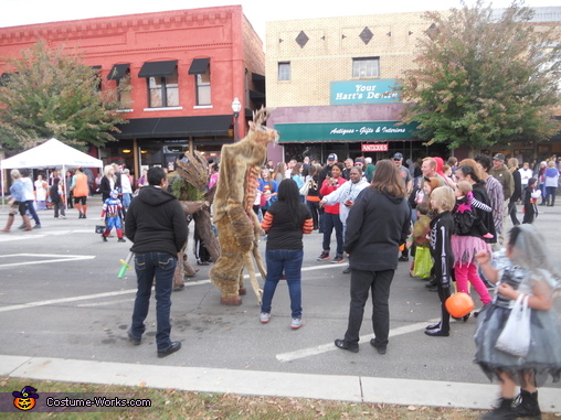 Working the crowd, Wendigo Costume
