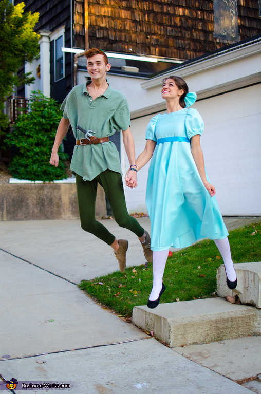 Trying to think of a wonderful thought, Wendy Darling and Peter Pan Costume