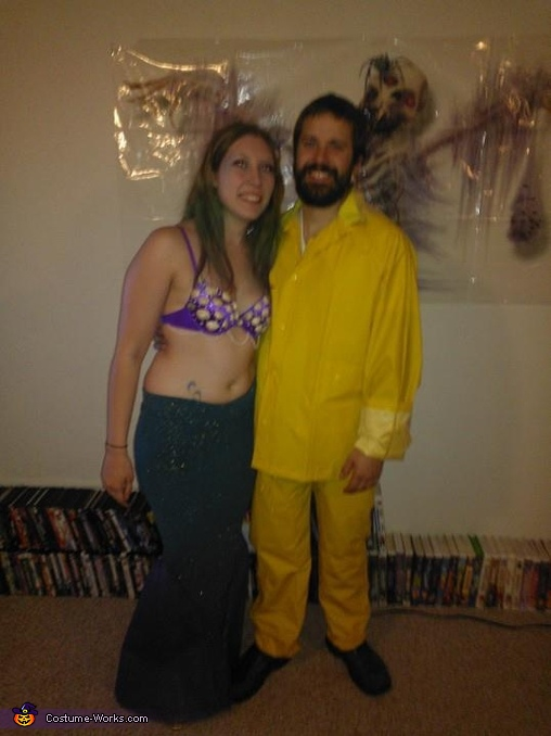 Mermaid & Fisherman Couple Costume