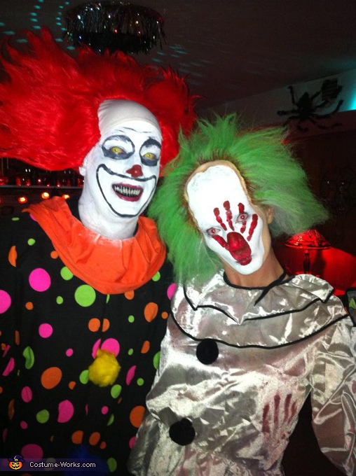 We promise to bite. Couple of Clowns - Homemade costumes for couples