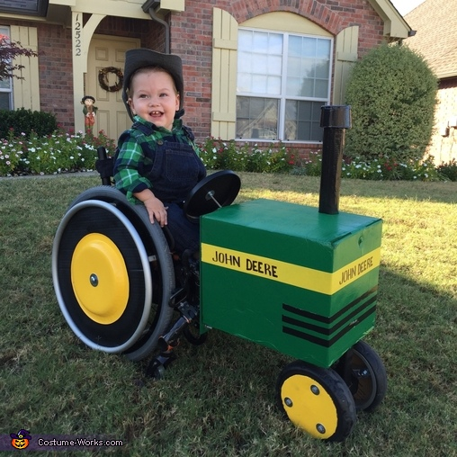 Wheelchair Tractor and Farmer Costume