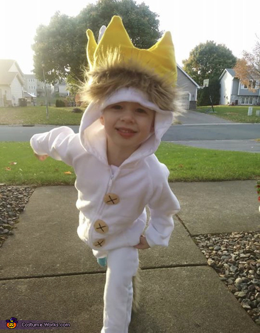 Max 4 years old as Max, Where the Wild Things Are Costume