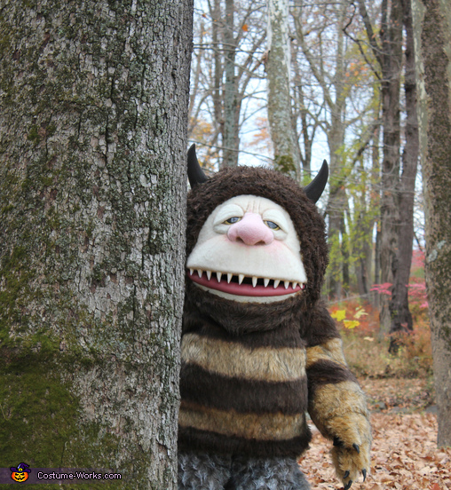 Hiding behind trees, Where the Wild Things Are Carol Costume