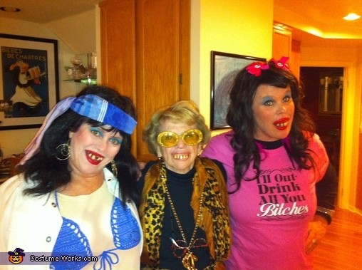 Whitewash momma and daughters, Whitetrash Family Costume