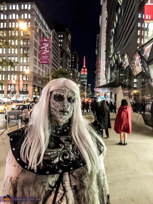 Whitewalker on the streets of NYC, Whitewalker Costume