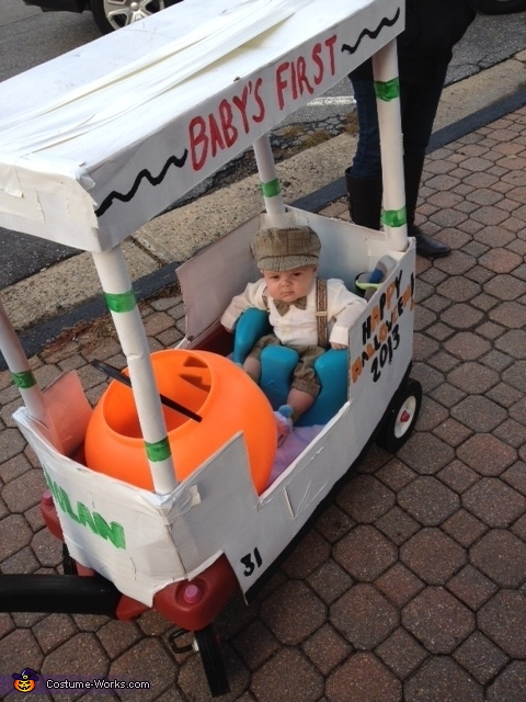 Little Golfer in his Golf Cart Baby Costume