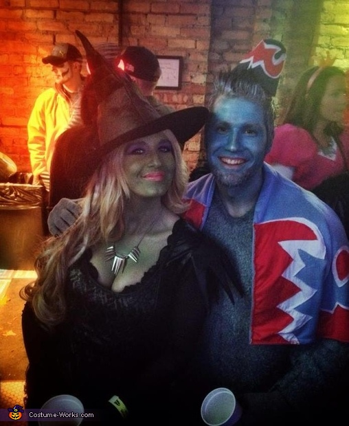 Wicked Witch and her Flying Monkey Couple Costume