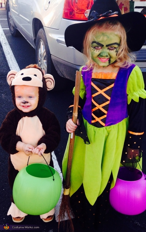Wicked Witch and her Monkey Costume
