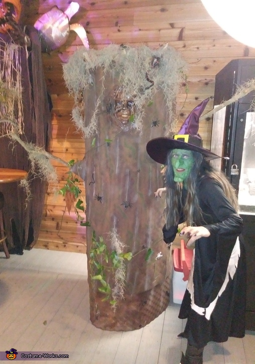 Wicked Witch of the Forest and Haunted Tree Costume