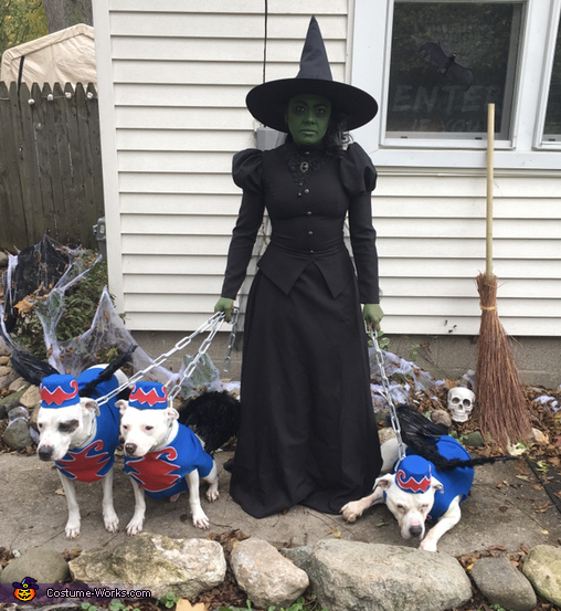 Wicked Witch of The West and Her Flying Monkeys Costume