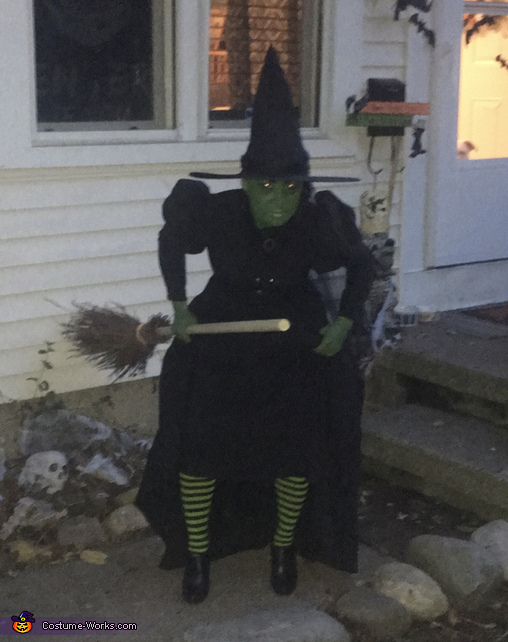 Wicked Witch of The West and Her Flying Monkeys Homemade Costume