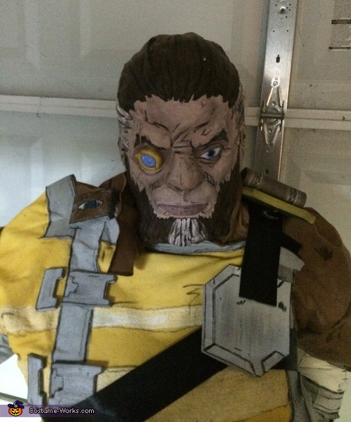 face, Wilhelm from Borderlands Costume