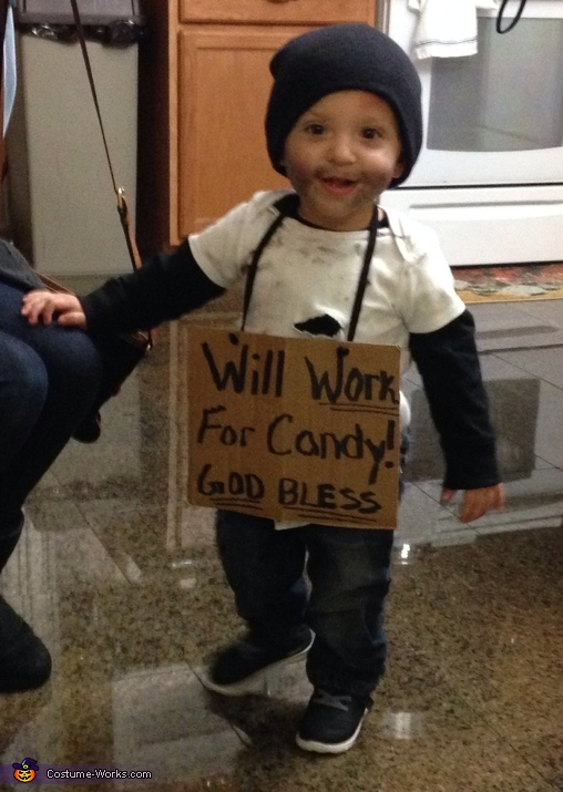 """Will Work for Candy"" Baby Costume"