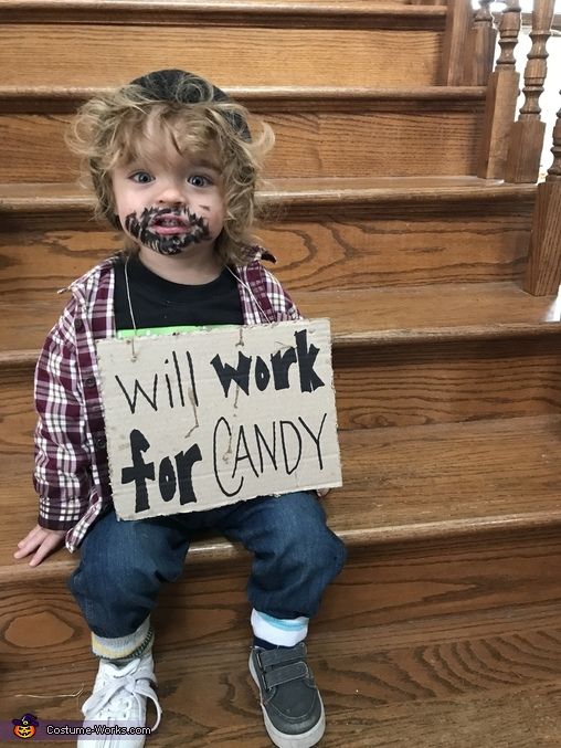 Will Work For Candy Costume