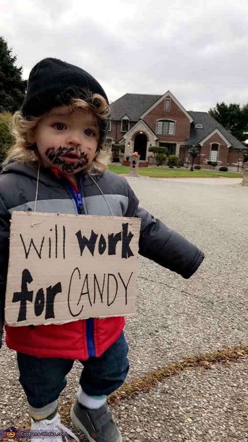 Will Work For Candy Baby Homemade Costume