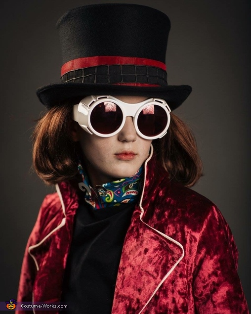 close up, Willy Wonka Costume