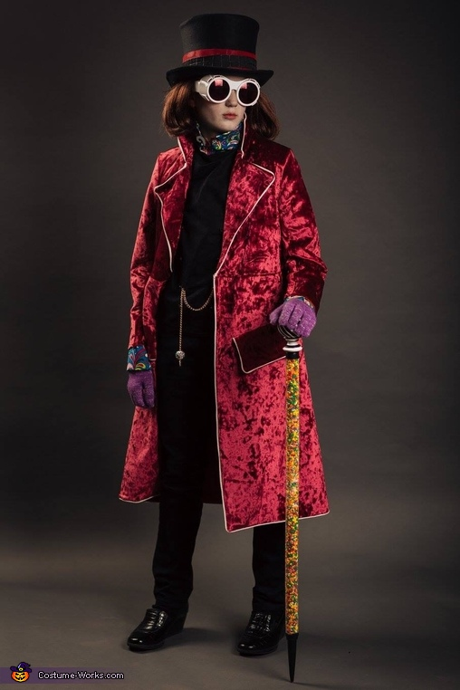 full length, Willy Wonka Costume