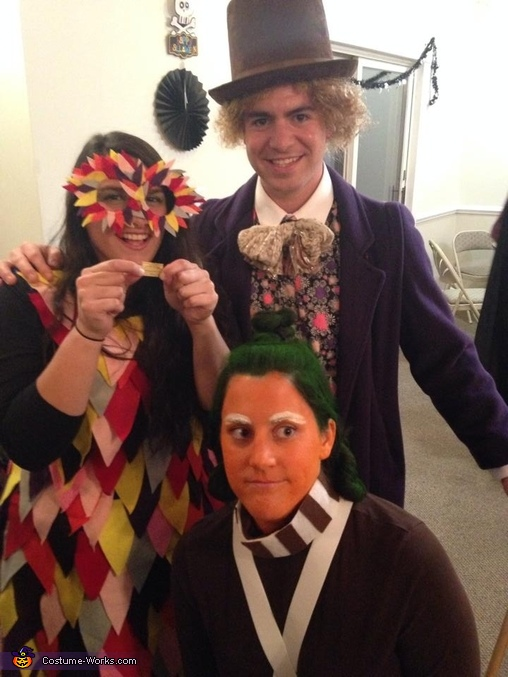 Wonka winner, Willy Wonka and Oompa Loompa Costume