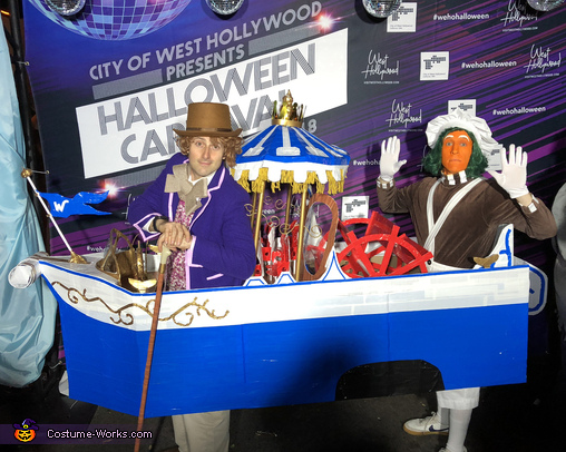 Willy Wonka and Oompa Loompa Aboard the Wonkatania Costume