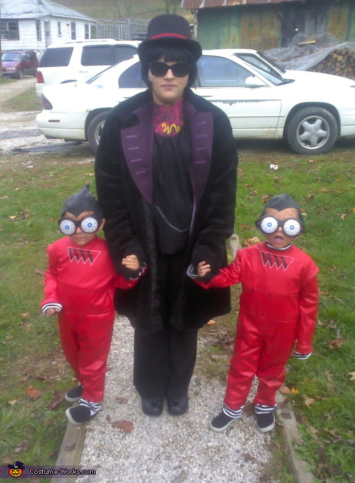 Willy Wonka and Oompa Loompas Family Costume