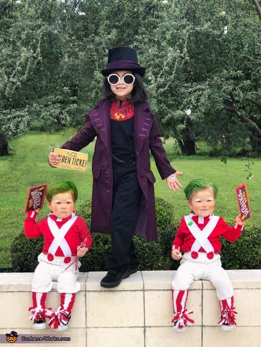 Willy Wonka and Oompa Loompas Costume