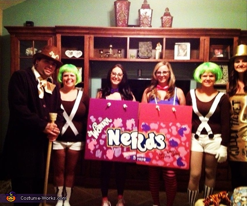 Willy Wonka and the Chocolate Factory - Homemade costumes for groups