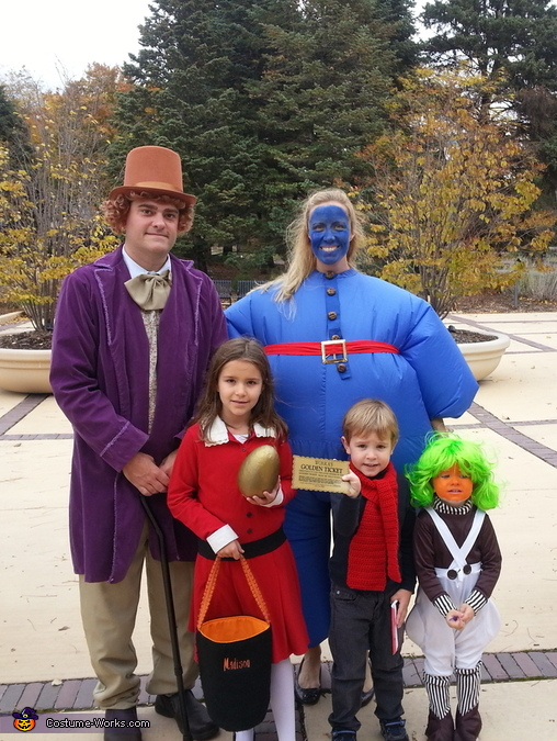 Willy Wonka and the Chocolate Factory Family Costume