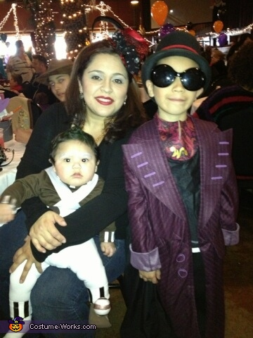 My sons Aidan (Willy Wonka) and Mateo (Oompa Loompa), Willy Wonka and the Oompa Loompas Costume