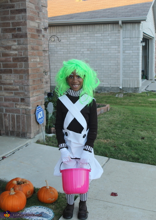 6 year old big sis., Willy Wonka and the Oompa Loompas Costume