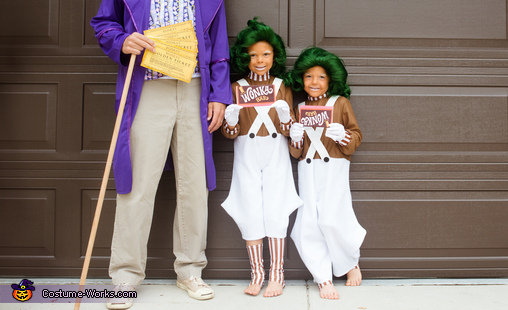 Willy Wonka's Oompa Loompas and the GOLDEN Ticket Homemade Costume