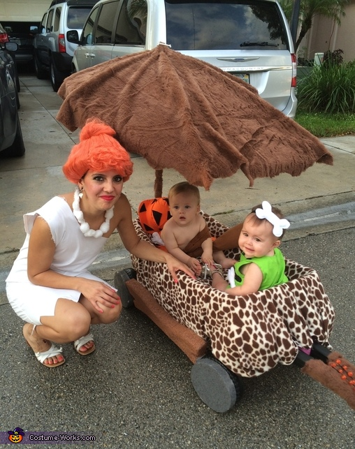 Wilma, bam bam and pebbles, The Flintstones Costume