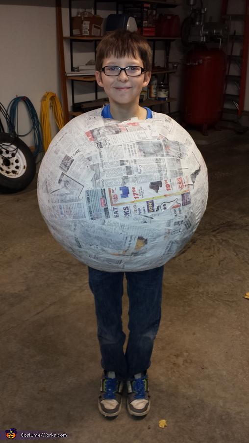 Paper mache ball, Wilson Costume