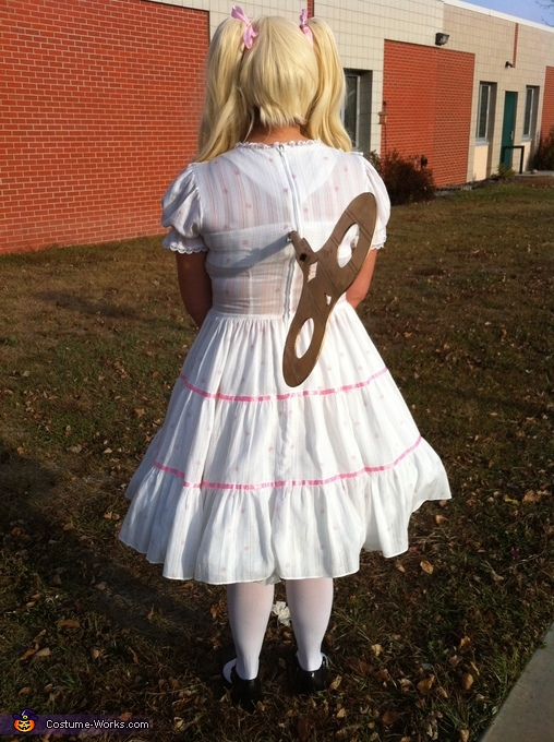 Homemade Wind-Up Doll Costume