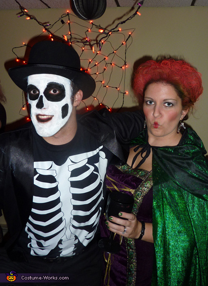 "My husband dresses as the skeleton from the ""Put a Spell On You"" scene., Winifred Sanderson Hocus Pocus Costume"