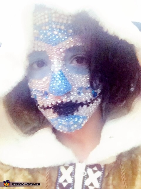 Close-up 2, Winter Sugar Skull Costume